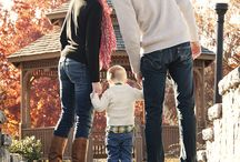 fall family session with toddler