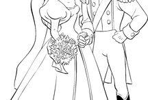 wedding coloring pages / by Natasha Zuwala