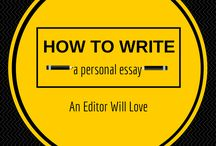 Writing Tips / Writing tips from essayists, novelists, bloggers, journalists, and memoirists.