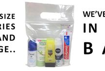 Travel Toiletries 2 Go / Mini travel size toiletries perfect for hand luggage supplied ready with an airport security compliant bag