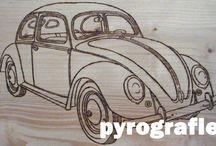 Pyrogafie, Houtbranden