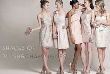 Bridesmaid dresses / This is to get an idea of colours.
