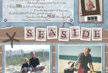 Summer scrapbook pages