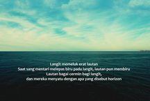 Horizon / Laut bagai cermin bagi langit, dan mereka menyatu dalam horizon