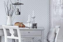 Tapety do kuchni / Kitchen Wallpapers / Tapeta w kuchni - przykłady wzorów, dopasowanie do klimatu wnętrza i trendu aranżacji.