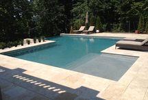 Concrete Pools / Reinforced Gunite/Shotcrete Monolithic Shell, Plaster, Aggregate or Pebble Finishes.  Lifetime Warranty