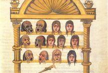 Teatro romano. maschere