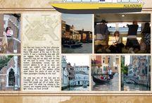 Digital Scrapbook Pages - Venice
