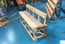 Pallet furniture, amsterdam