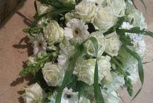 Bloemstuk ovaal ellipsvormig, flower table arrangement