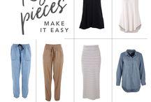C A P S U L E / Capsule wardrobe inspo