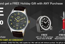 Free Holiday Gifts on Shopping at WatchWarehouse.com / Holiday Shopping for Mens Womens Watches: FREE Holiday Gifts with Any Purchase and Save upto 75% on watches purchased at WatchWarehouse.com