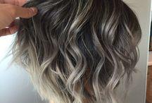 mörkt hår