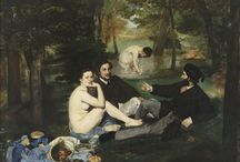 12. Birth of modern art / 1863 Salon des Refusés/Manet, realist and impressionist-Father of Modern Art. Le déjeuner sur l'herbe-appropriates,summary-modelling,flashbulbs-effect,art-for-artsake / by R. Chacon