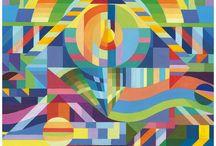 Wasserfarben Kunst / Malerei mit Wasserfarben
