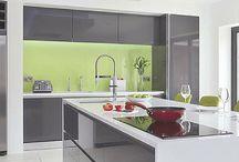 Glass kitchen furniture