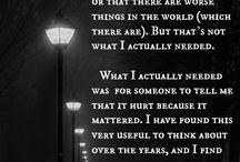 it hurts because it mattered