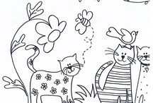Coloring Book Pages- Cats