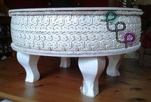 Table made of tire // Stolik zrobiony z opony / wykonane w pracowni Pif Paf Puf/ made in Pif Paf Puf workshop   Stolik zrobiony ręcznie z opony // Handmade table from tire