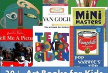 Art Books for Kids  / Books featured in the article Exploring the Great Artists 20+  Art Books for Kids http://www.redtedart.com/2012/04/16/art-books-for-kids/