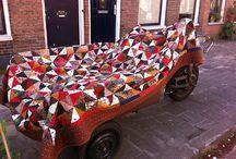 Groningen / Quilts patchwork bedding recycle industrial garden metal Life in Groningen and Novosibirsk