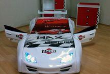 GT999 łóżko z otwieranymi drzwiami / Absolutnie rewelacyjne łóżko w kształcie samochodu z otwieranymi drzwiami.
