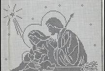 Haft krzyżykowy i filet / Wzory do haftu krzyżykowego