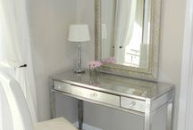 silver vanity