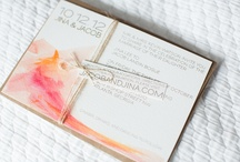 CLIENT // WATERCOLOR + KRAFT / a two-state solution for sarah + paul