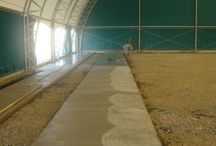 footbal field indoor / football ground covered with metal structure