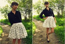 Sewing: SKIRTS / I love skirts. And if I can make my own for less--Whoohoo!