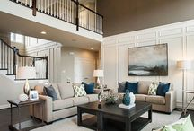 {two story family room}