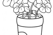 Flowers coloring pages /            This page has lots of flowers to color. Free coloring pages for kids,parents and teachers