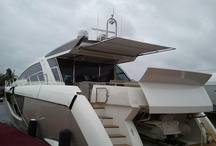 Megayachts / Larger boats over 60 feet featuring the SureShade M3 retractable shade for megayachts