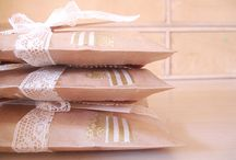 Business presentation / Pretty parcel wrapping, swing tags and presentation ideas