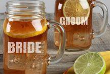 Mason Jar Mugs / Fun glass mason jar mugs for weddings, photo shoots or parties.