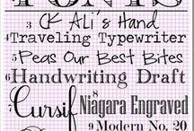 (School) Lettertypes