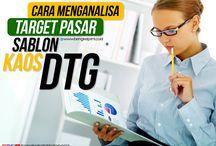Cara Menganalisa Target Pasar Bisnis Sablon Kaos DTG