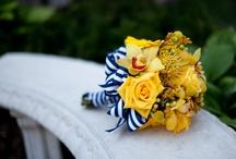 Some ideas for Bernadette / Cobalt and yellow colour scheme wedding, July.