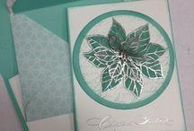 Christmas cards ponsietta / by Sue Cartwright
