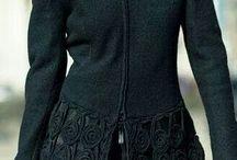siyah motifli hırka