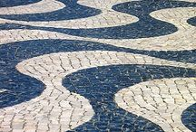 Calçada Portuguesa - Portuguese Pavement / You won´t find many places in which even sidewalks are works of art... This is another portuguese architectonical heritage, present not only in most sidewalks and squares of portuguese cities, but also on previous portuguese colonies such as Asia´s gambling capital Macau and on the sidewalks of the world´s most famous beach, Copacabana.