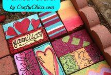 painted pave bricks
