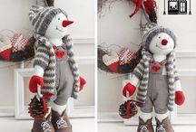 muñecos bellos Navidad