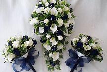 wedding flowers navy
