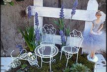 Tavaszi levendulás dekoráció
