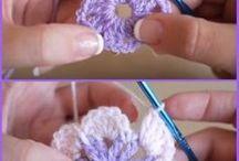 Вязание крючком бабочки и цветы