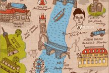 Praha / Prahaan liittyviä kuvia ja paikkoja joissa käydä kesän reissulla