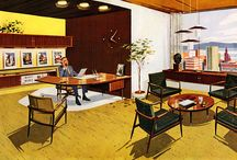 Study, home office, studio Mid Century Modern /  Secret Design Studio is a design-focused building consultancy, based in Melbourne, Australia. We are passionate about quality residential design. We collect 20th Century chairs. We champion mid century modern architecture with an irregular blog. Follow us on https://www.facebook.com/SecretDesignStudio or twitter @Secret_Design. www.secretdesignstudio.com / by Secret Design