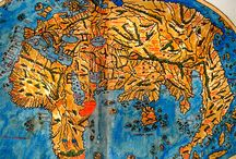 Marvelous Maps and Curious Cartography / A collection of curious cartography and really cool maps, featured as part of my articles at Dark Roasted Blend